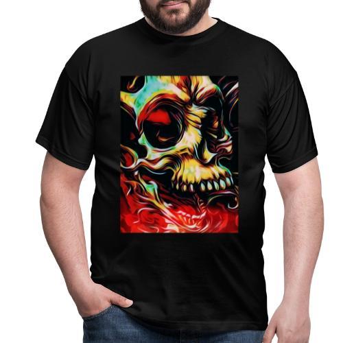 Color Skull - Maglietta da uomo