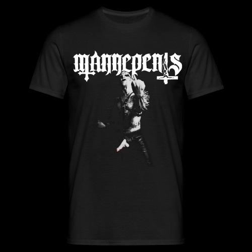 Skriftlogo Mannepeniskvit png - Men's T-Shirt