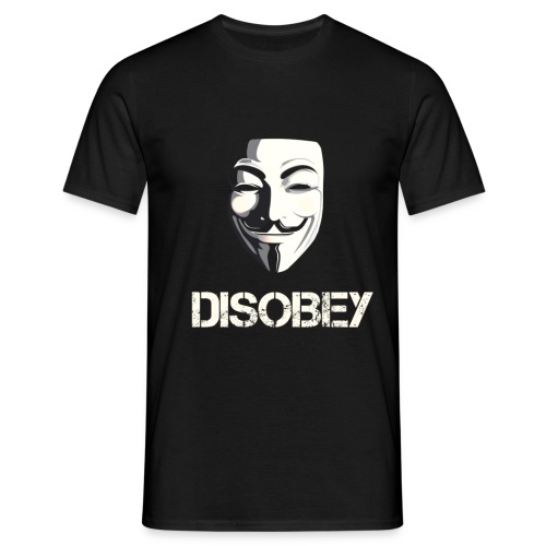 Anonymous Disobey gif - Mannen T-shirt