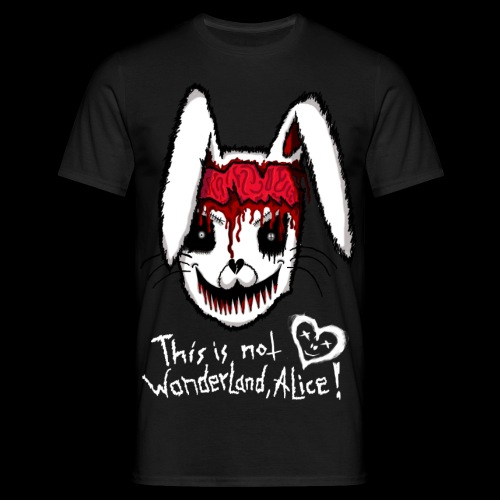 Dead Rabbit Alice in Wonderland Transparent Weiße - Männer T-Shirt