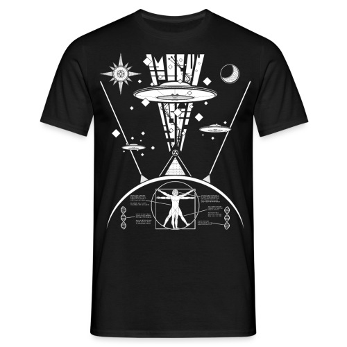 ufo design 2 done transparant png - Mannen T-shirt