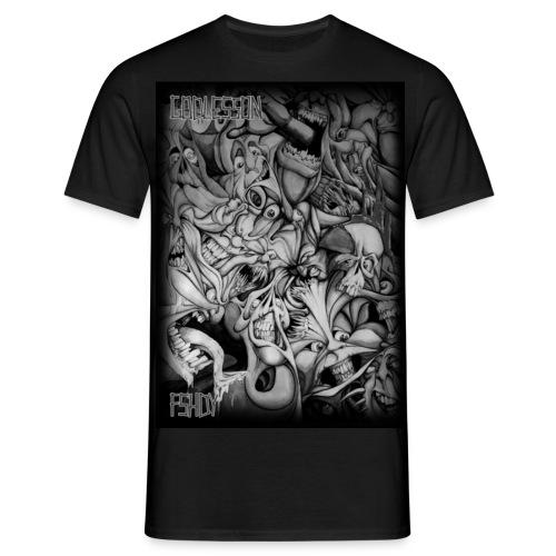 mustavalkoinen paitakuva - Miesten t-paita
