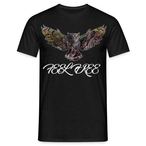 Feel Free Owl - Männer T-Shirt
