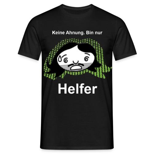 Helfer Shin Weisser Text - Männer T-Shirt