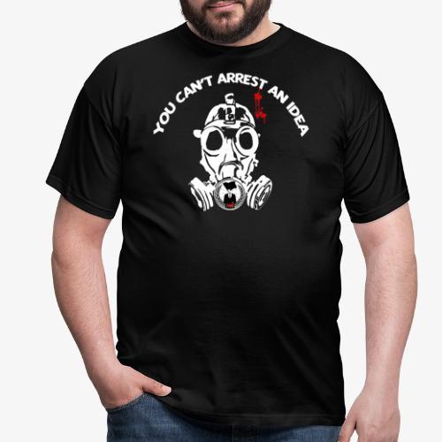 anonymous gazmask white - Camiseta hombre