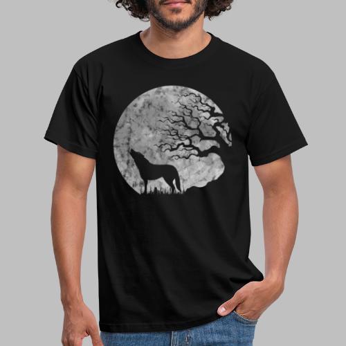 Vollmond heulender Wolf mystisch Werwolf Fantasy - Männer T-Shirt