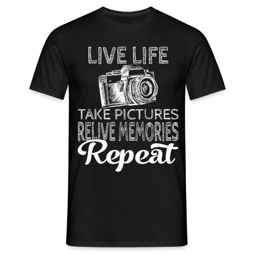 Take Pictures Skizzierter Fotoapparat Fotografie - Männer T-Shirt