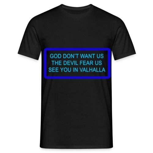 GOD DONT WANT US png - Herre-T-shirt