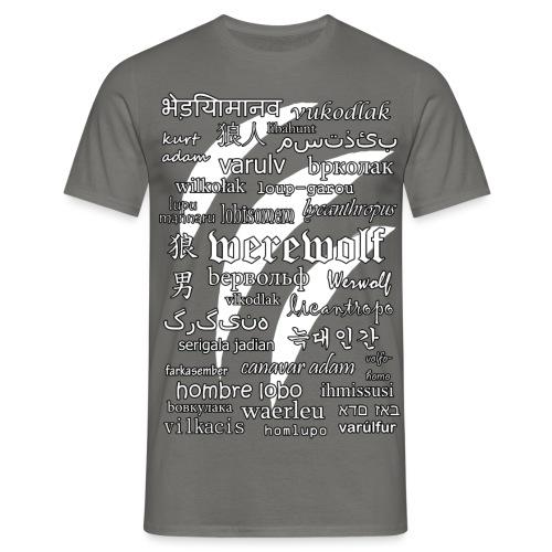 Werewolf in 33 Languages (Black Ver.) - Men's T-Shirt