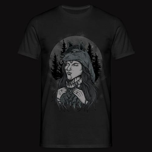 women wolf - Men's T-Shirt