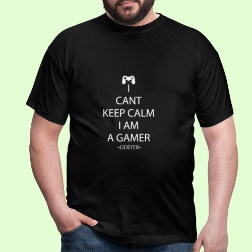 Keep Calm Weiss - Männer T-Shirt