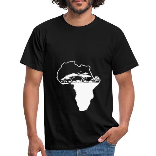 Savane Afrique logo Blanc - T-shirt Homme