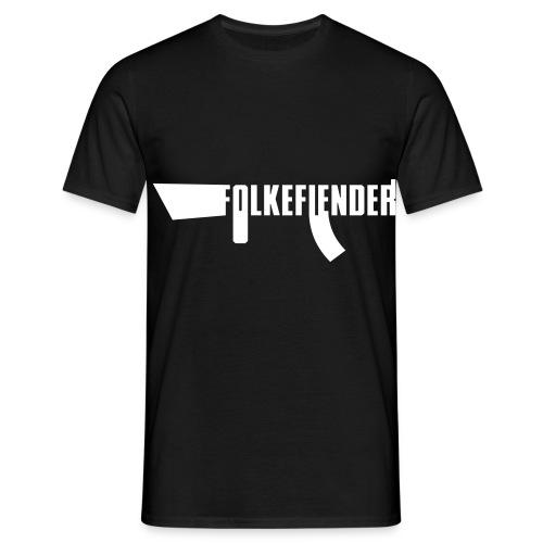 folkefiender spreadshirt 03 - T-skjorte for menn