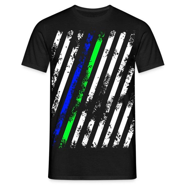 Stripes Weiß Blau Grün