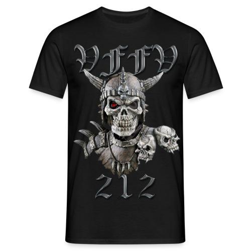 Viking skull rød stor png - Herre-T-shirt