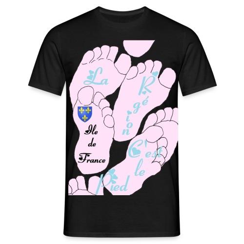 region_ile_de_france_pied - T-shirt Homme