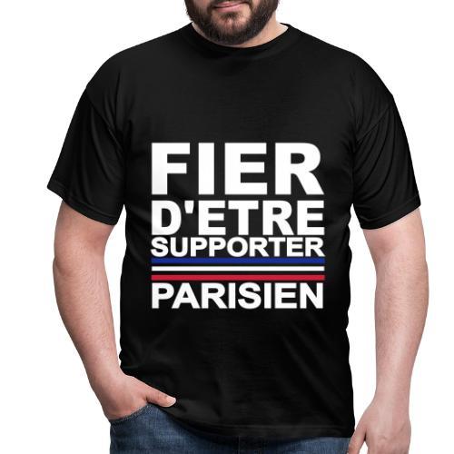 fier parisien blanc 01 - T-shirt Homme