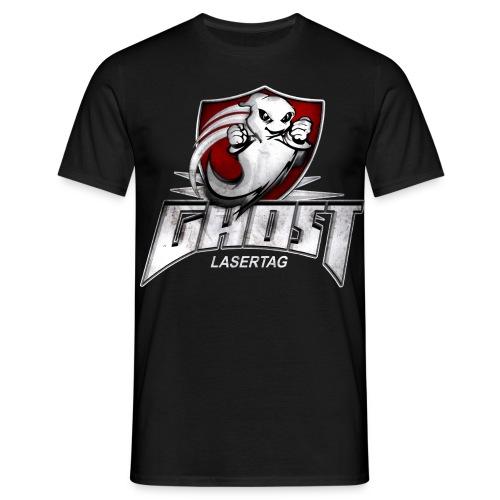 ghost textur schwarzes shirt - Männer T-Shirt