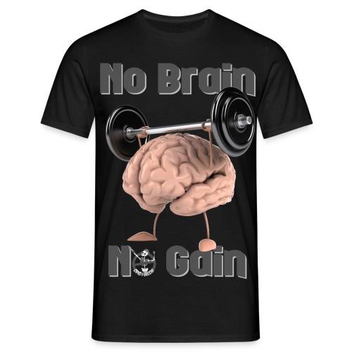 NoBrainNoGain - Maglietta da uomo