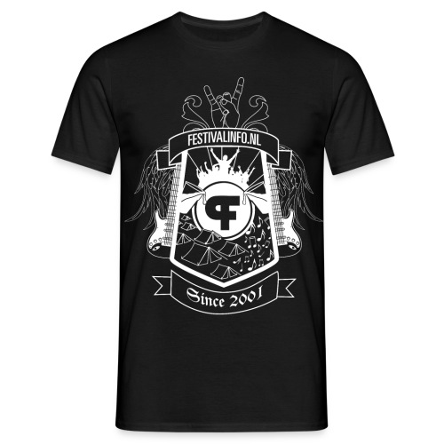 tshirt schild wit def2 - Mannen T-shirt