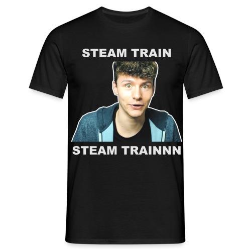 steam train writing - Men's T-Shirt