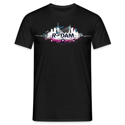 rdam logo nightskyline 2009 shirtdesign - Mannen T-shirt