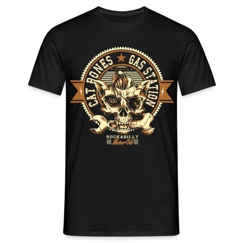 letras gato huesos 1 - Camiseta hombre