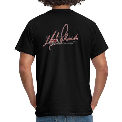 redsignoutlinelogoblackback - T-skjorte for menn