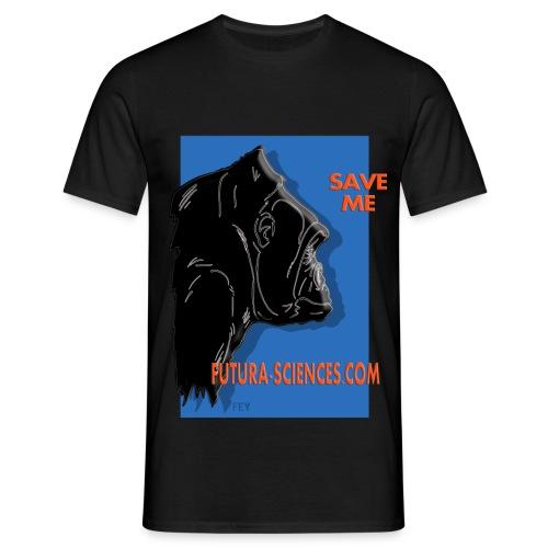 gorille fond bleu - T-shirt Homme