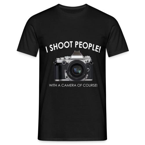 With A Camera - Männer T-Shirt