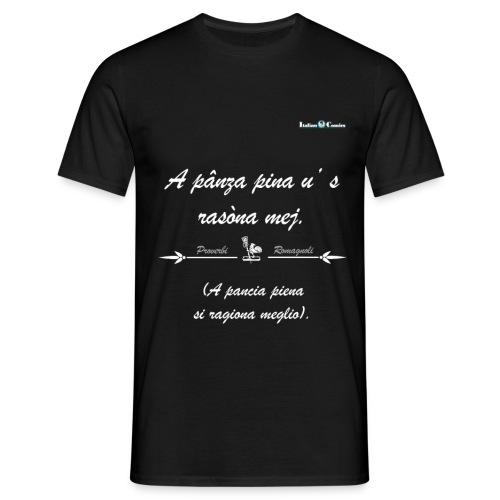 pancia_bianco - Maglietta da uomo