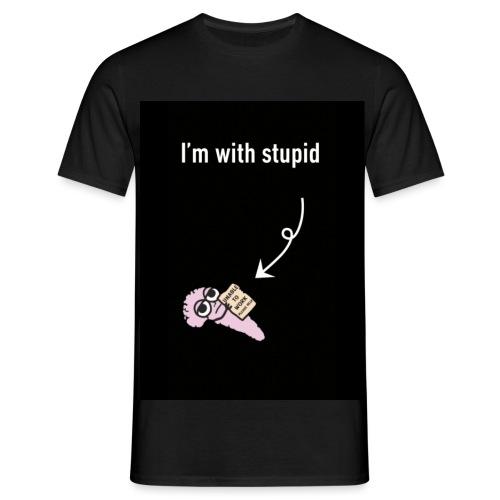I'm with stupid - Men's T-Shirt
