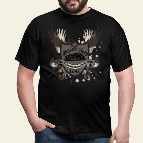 badge hotrod - Herre-T-shirt