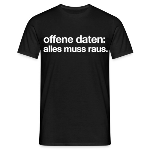 okf offendatenallesmuss white - Men's T-Shirt