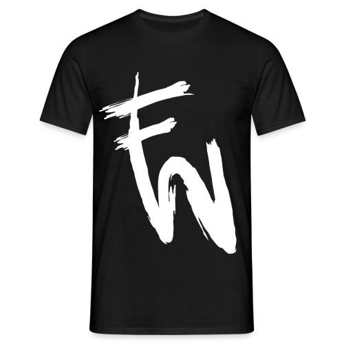 FW vitt tryck - T-shirt herr