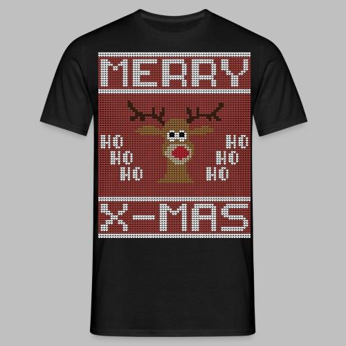 Merry X-Mas Ugly Sweater Design Geschenk - Männer T-Shirt