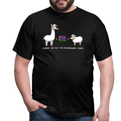 Komprimierte Schafe - Männer T-Shirt