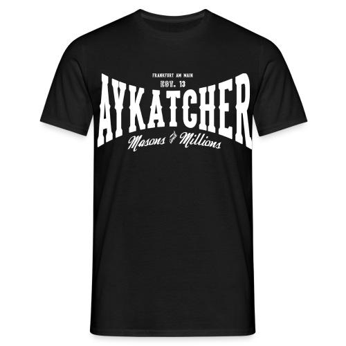 Aykatcher Logo Weiss - Männer T-Shirt