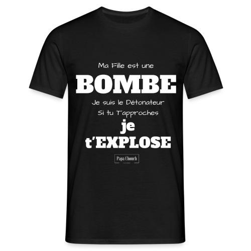 bombe en blanc - T-shirt Homme