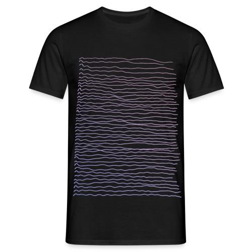 pastell linjer - T-skjorte for menn