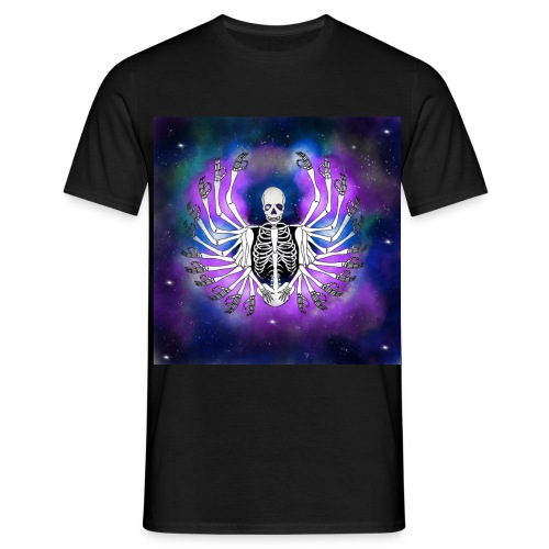 Galaxy skull - Camiseta hombre