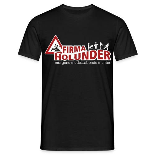 Fa Holunder Logo Druck INV png - Männer T-Shirt