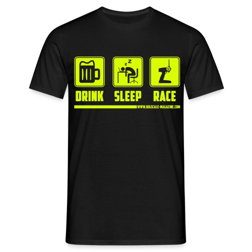 drink sleep rc g png - Männer T-Shirt