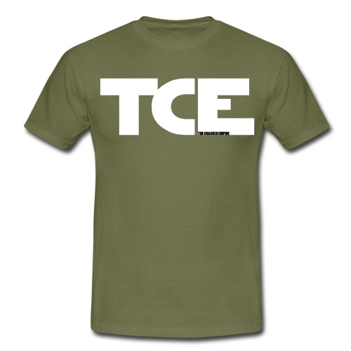 TCE TCE Logo White3 gif - Männer T-Shirt