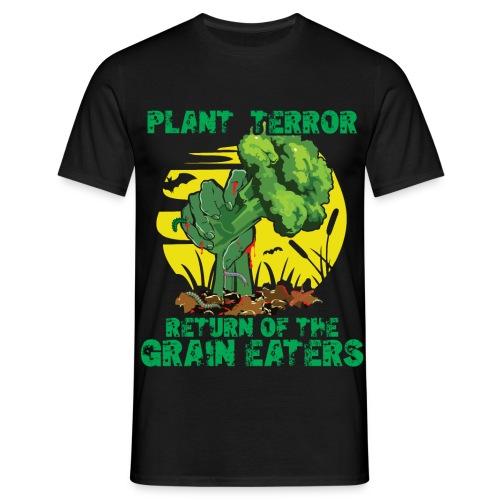 Plant Terror Vegan Zombie - Männer T-Shirt