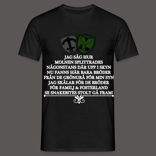 VITTEXTjagsåghurmolnen - T-shirt herr