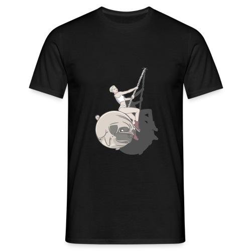 Wrecking Pug Dark - Men's T-Shirt