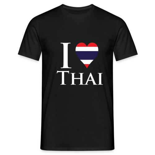 I Love Thai Black - Men's T-Shirt