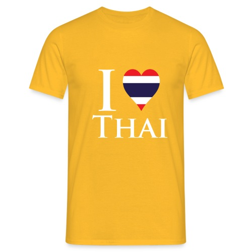 I Love Thai Black - Men's T-Shirt
