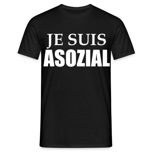 Asoozial weiß png - Männer T-Shirt